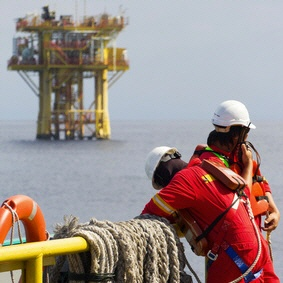 Bohrinsel - Ölbohrinseln - Nordsee - Weltweit - Arbeit - Jobs